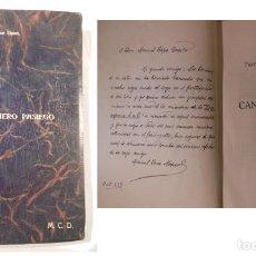Libros antiguos: CANCIONERO PASIEGO. 1933 FRAY JUSTO PEREZ DE URBEL. RARO EJEMPLAR DEDICADO A MANUEL CAPA DEUSTO. Lote 235222245