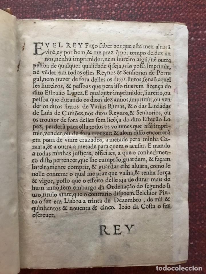 Libros antiguos: Rimas de Luis de Camões. 1598. Edición rarísima. - Foto 2 - 235418405