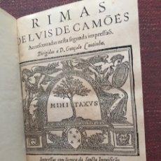 Libros antiguos: RIMAS DE LUIS DE CAMÕES. 1598. EDICIÓN RARÍSIMA.. Lote 235418405
