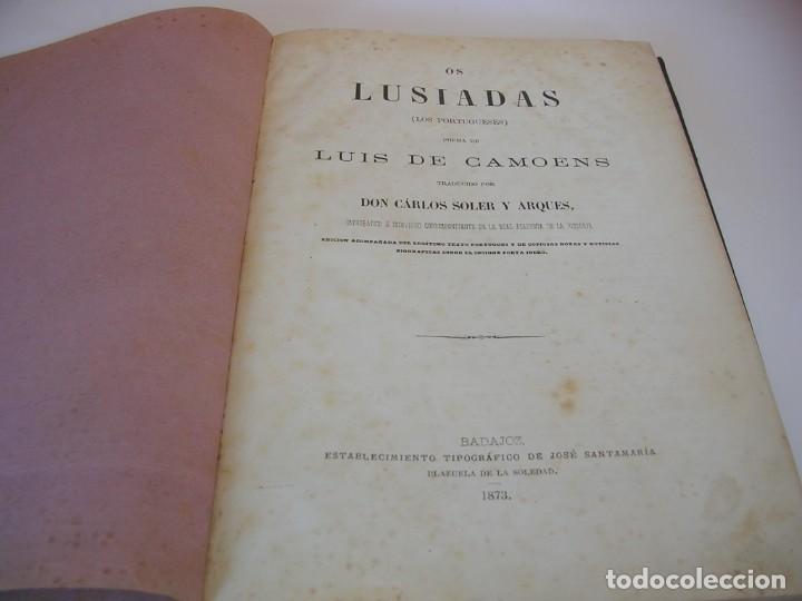LUIS DE CAMOENS OS LUSIADAS 1873 (Libros antiguos (hasta 1936), raros y curiosos - Literatura - Poesía)
