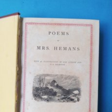 Libros antiguos: POEMS BY MRS HEMANS - 1885. Lote 236755930