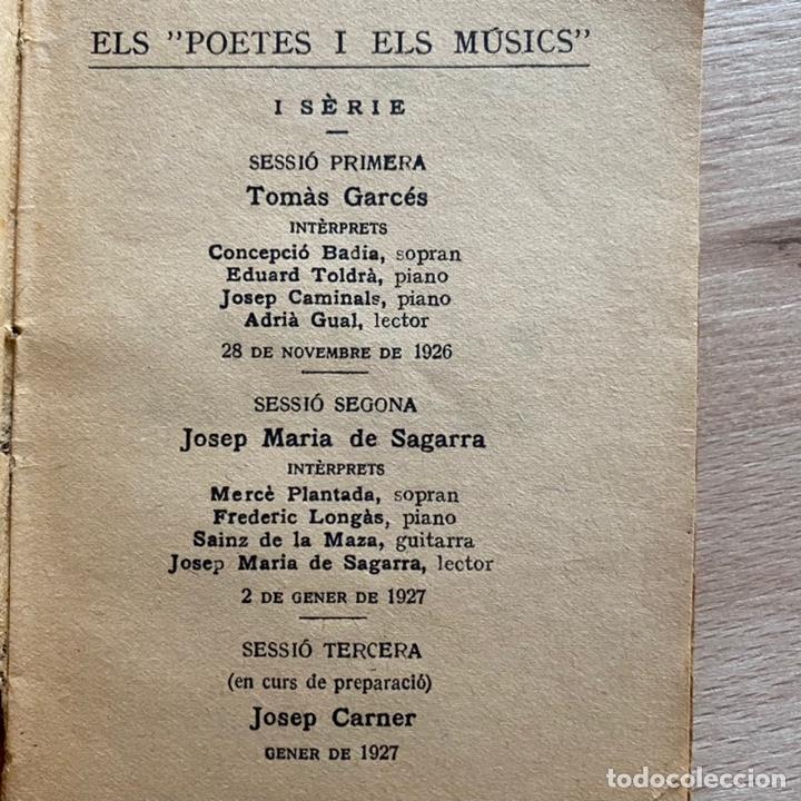 Libros antiguos: Josep Maria de Sagarra. Cançons diverses. 1926. - Foto 2 - 237256695