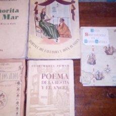 Livres anciens: SEÑORITA DEL MAR 1934 JOSE MARIA PEMAN Y 4 OBRAS MAS. Lote 238556130