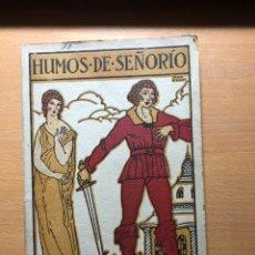 Libros antiguos: HUMOS DE SEÑORÍO. JUAN LAGUÍA LLITERAS . . PORTADA JOAN D'IVORI . 1918. POESIA. Lote 238665545