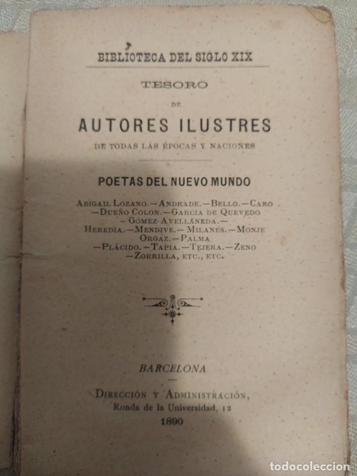 Libros antiguos: Tesoro de Autores Ilustres. Poetas del Nuevo Mundo - Foto 3 - 240026920