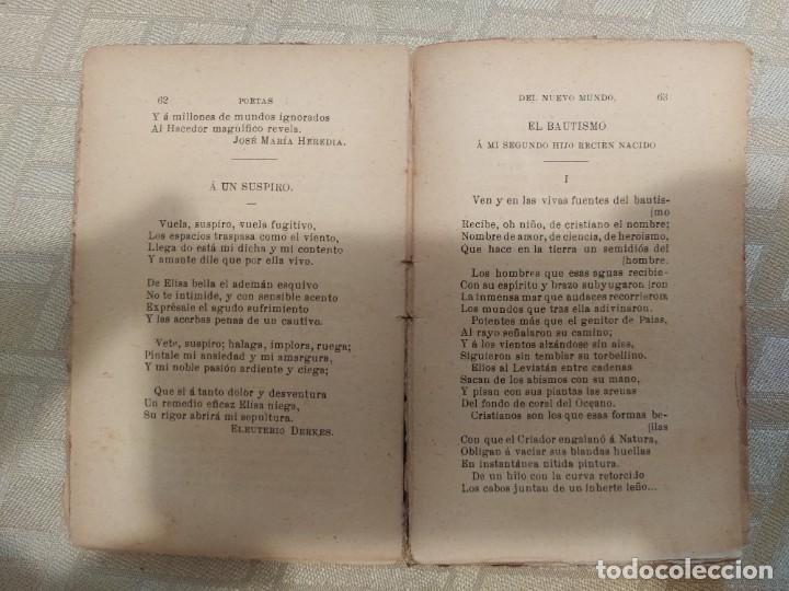 Libros antiguos: Tesoro de Autores Ilustres. Poetas del Nuevo Mundo - Foto 4 - 240026920