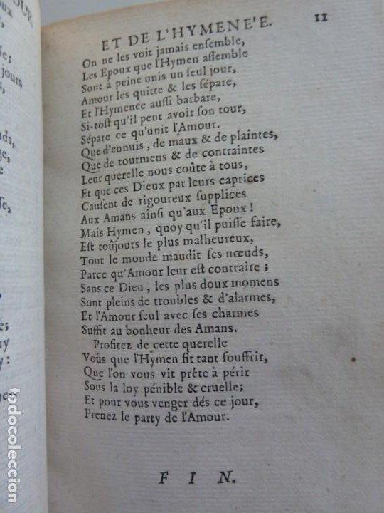 Libros antiguos: 3 TÍTULOS EN UN TOMO: LE DIVORCE DE LAMOUR. VOYAGE DE MESSIEURS DE BACHAUMONT. LOCCASION PERDVE - Foto 3 - 29910072