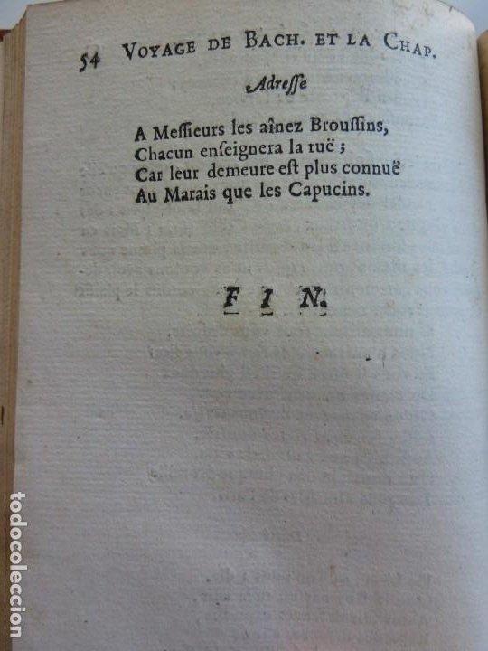 Libros antiguos: 3 TÍTULOS EN UN TOMO: LE DIVORCE DE LAMOUR. VOYAGE DE MESSIEURS DE BACHAUMONT. LOCCASION PERDVE - Foto 5 - 29910072
