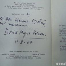Libros antiguos: LIBRO CON DEDICATORIA MANUSCRITA DEL POETA DAVID MEJIA VELILLA 1964 PAISAJES CLAROSCUROS CON 164 PA. Lote 240800830
