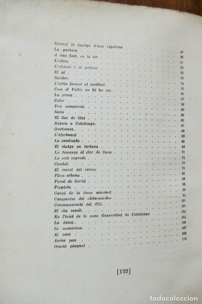 Libros antiguos: BELLA TERRA BELLA GENT- POEMES DE JOSEP CARNER- VOL III- SEGONA EDICIÓ - 1936 LLUIS GILI - Foto 10 - 242324390