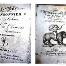 Libri antichi: -LE PETIT CHANSONNIER DES SALONS + LES MÉTAMORPHOSES DE L'AMOUR. Lote 243440420