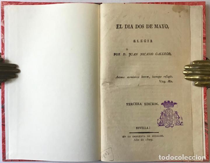 EL DIA DOS DE MAYO. ELEGIA. - NICASIO GALLEGO, JUAN. (Libros antiguos (hasta 1936), raros y curiosos - Literatura - Poesía)