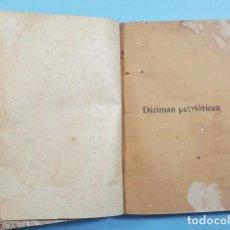 Libros antiguos: DECIMAS PATRIOTICAS CUBA 276 PAGINAS, REENCUADERNADO ¿18XX?, LIBRO MUY RARO. Lote 243778470