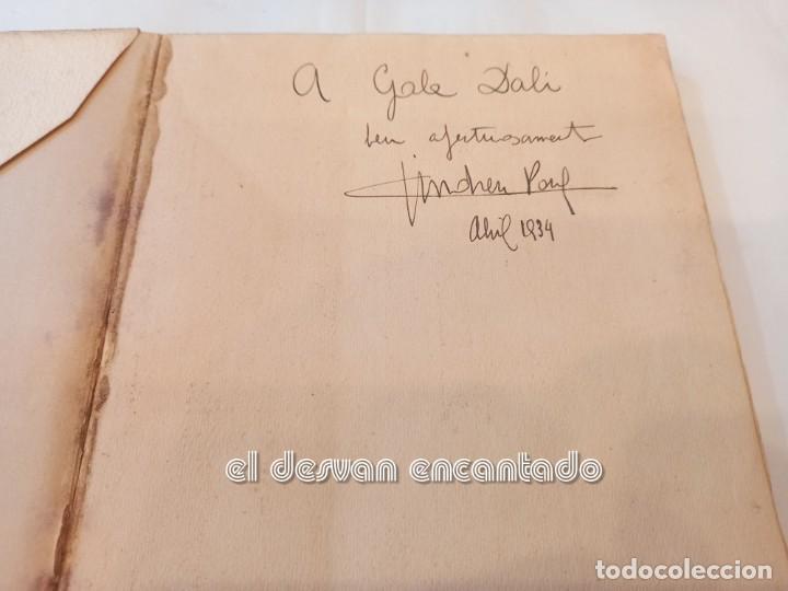 Libros antiguos: DARRERA EL VIDRE. Carles Sindreu. Ilust. Joan Miró. 1933. Dedicat a GALA DALI. Ex. nº 1 de 100 - Foto 2 - 245395930