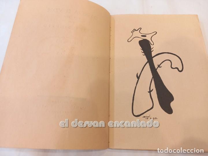 Libros antiguos: DARRERA EL VIDRE. Carles Sindreu. Ilust. Joan Miró. 1933. Dedicat a GALA DALI. Ex. nº 1 de 100 - Foto 4 - 245395930