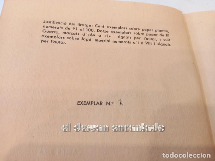 Libros antiguos: DARRERA EL VIDRE. Carles Sindreu. Ilust. Joan Miró. 1933. Dedicat a GALA DALI. Ex. nº 1 de 100 - Foto 5 - 245395930
