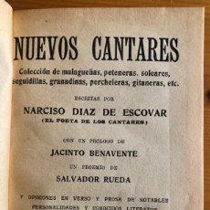 Libros antiguos: NUEVOS CANTARES- NARCISO DIAZ DE ESCOBAR- MALAGA 1926- FIRMA AUTOR- RARO. Lote 245954270