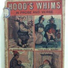 Libros antiguos: WHIMS AND ODDITIES, IN PROSE AND VERSE; WITH FORTY ORIGINAL DESIGNS. THOMAS HOOD,1827. EDICIÓN RARA. Lote 247635830