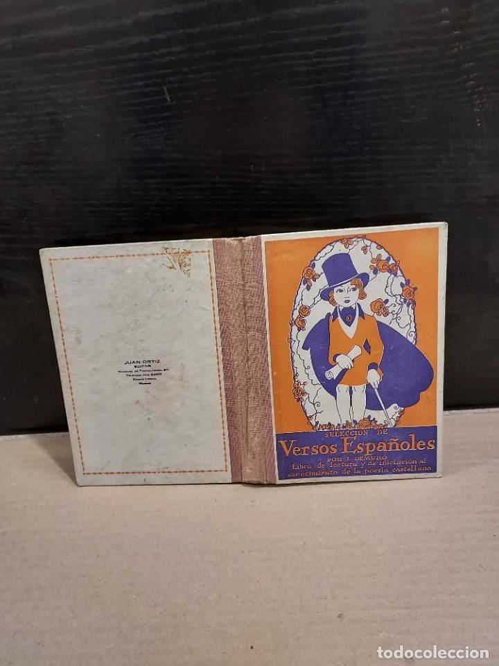 Libros antiguos: SELECCIÓN DE VERSOS ESPAÑOLES......1935.... - Foto 2 - 250328395
