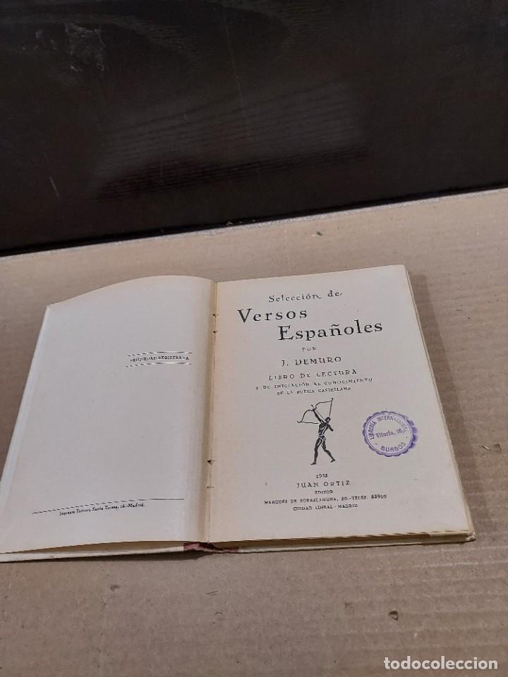 Libros antiguos: SELECCIÓN DE VERSOS ESPAÑOLES......1935.... - Foto 3 - 250328395