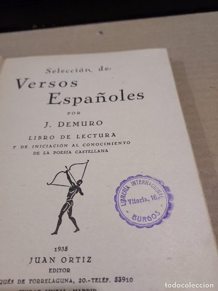Libros antiguos: SELECCIÓN DE VERSOS ESPAÑOLES......1935.... - Foto 4 - 250328395