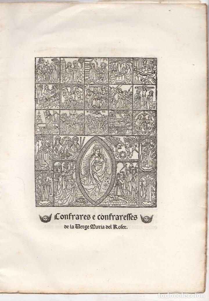 Libros antiguos: Cançoneret y miracles en lahor del Psaltiri o Roser ab singulars imatges catalanes del quinzen segle - Foto 2 - 251335240