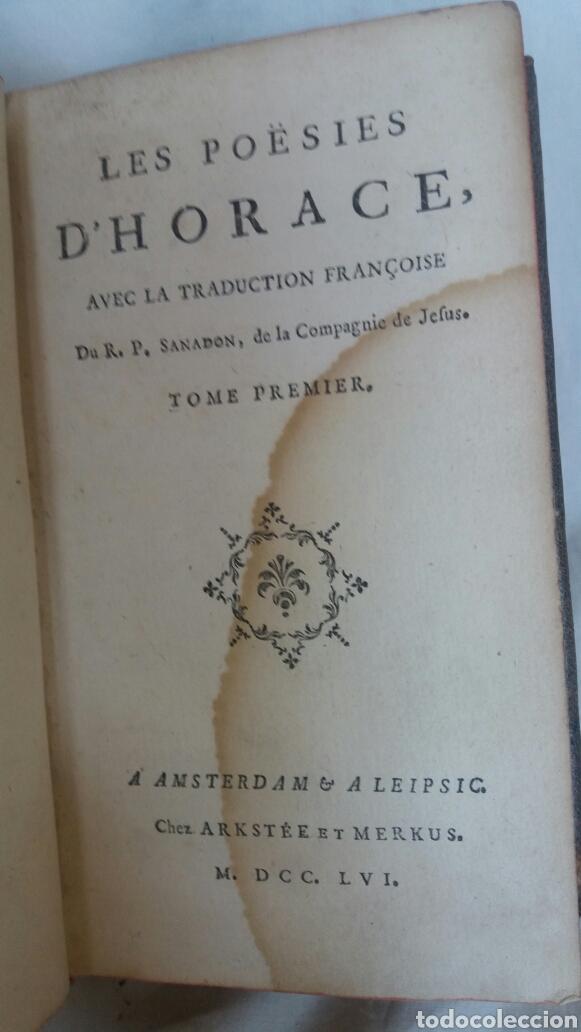 Libros antiguos: Poesías de Horacio libro del siglo XVIII - Foto 3 - 252770445
