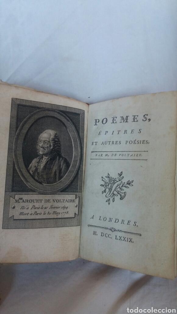 Libros antiguos: Poemas de Voltaire editado en 1779 - Foto 3 - 255333000