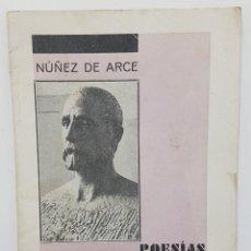 Libros antiguos: NUÑEZ DE ARCE. POESÍAS. 1832-1932. MÁS NOTA INTRODUCTORIA. VALLADOLID 1932, CENTENARIO NACIMIENTO. Lote 260422200