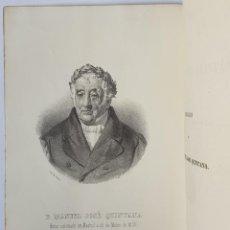 Libros antiguos: CORONACIÓN DEL POETA MANUEL J. QUINTANA 1855. Lote 260542920