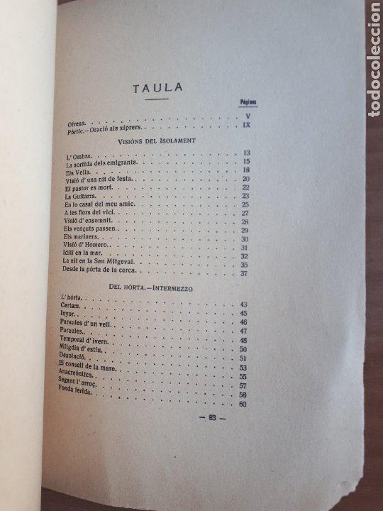 Libros antiguos: LA CANSÓ DE LISOLAT. DANIEL MARTÍNEZ FERRANDO. PRÒLEG DE SANTIAGO RUSIÑOL - Foto 7 - 262917345