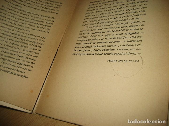 Libros antiguos: antologia de nadal . pròleg y tria tomas de la selva . ed joan merli 1923 poemas de navidad - Foto 5 - 265568929