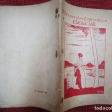 Libros antiguos: GALICIA POESIA RARO DEDICADO - ESENCIAS - BERNARDINO QUINTANILLA - PONTEVEDRA 1928 48PAG 22X15CM +. Lote 267463514