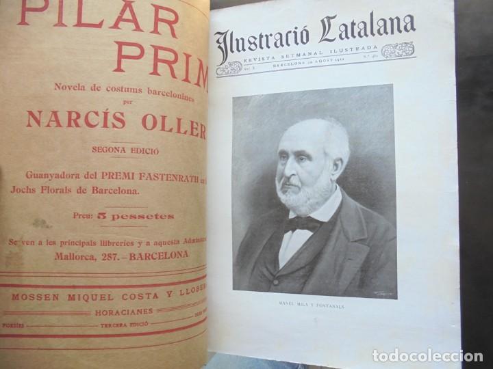 Libros antiguos: Poesies de Manel Milà y Fontanals Ilustració Catalana 1912 ilustracions Pahissa, Pellicer y Riquer - Foto 2 - 269058408