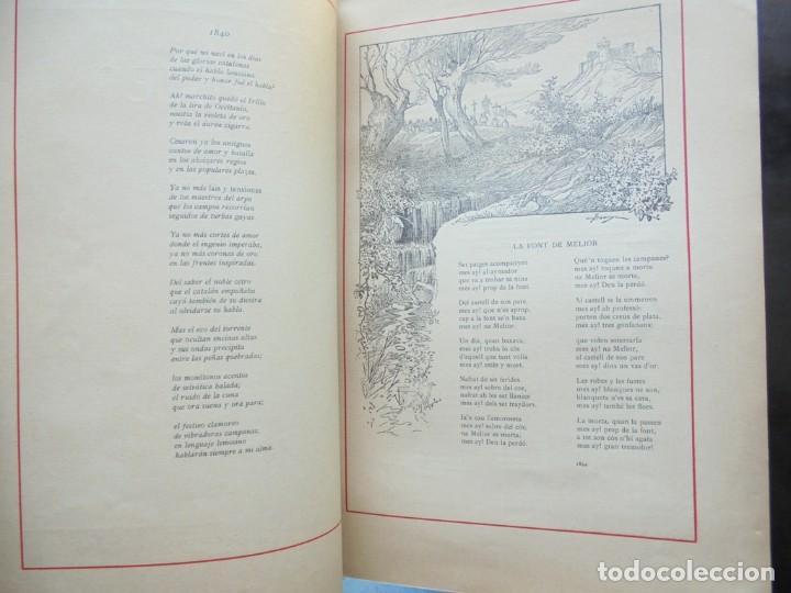 Libros antiguos: Poesies de Manel Milà y Fontanals Ilustració Catalana 1912 ilustracions Pahissa, Pellicer y Riquer - Foto 3 - 269058408
