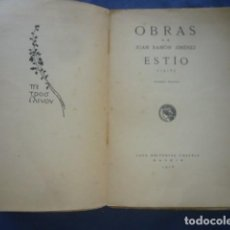 Libros antiguos: JUAN RAMON JIMENEZ: - ESTIO (POESIAS) - (MADRID, 1916) (PRIMERA EDICION). Lote 269943983