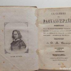 Libros antiguos: LIBRERIA GHOTICA. LUJOSA EDICIÓN DE LA CUMBRE DEL PARNASO ESPAÑOL.POESIAS DE QUEVEDO.1846.ED.BERMEJO. Lote 270192373