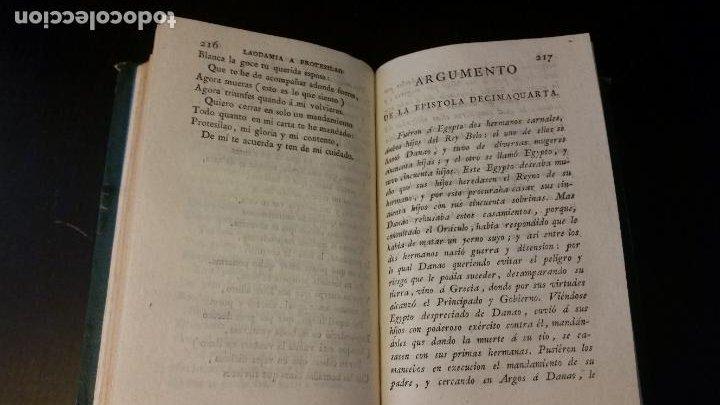 Libros antiguos: 1797 - Las Heroydas de Ovidio traducidas por Diego Mexía - Foto 6 - 270259228