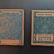 Libros antiguos: DOS LIBROS AÑOS 20, DE FERNANDO MARISTANY. CON FIRMA DEL AUTOR. PRIMERAS EDICIONES.. Lote 270410513