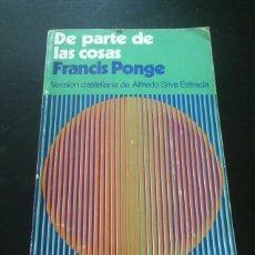 Libros antiguos: DE PARTE DE LAS COSAS. Lote 271140593