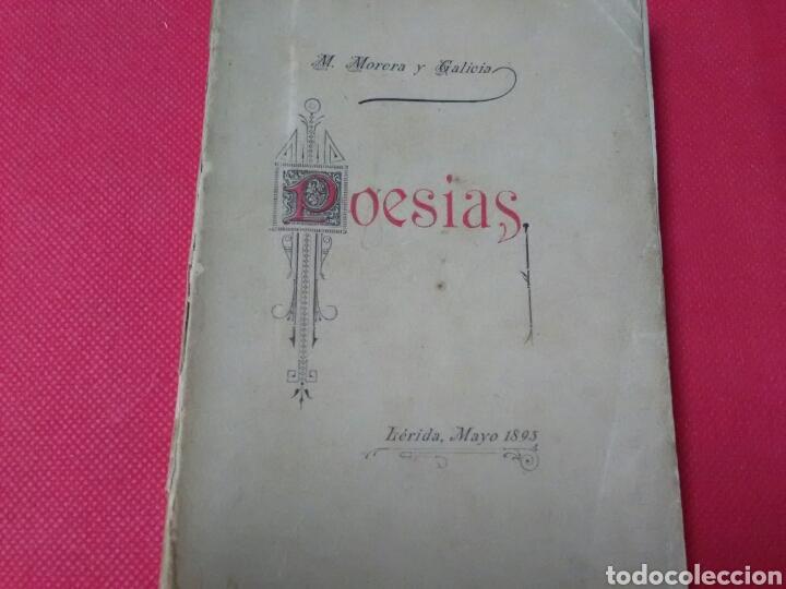 POESIAS . M.MORERA Y GALICIA . (Libros antiguos (hasta 1936), raros y curiosos - Literatura - Poesía)