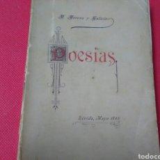 Libros antiguos: POESIAS . M.MORERA Y GALICIA .. Lote 273742053