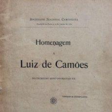 Libros antiguos: HOMENAGEM A LUIZ DE CAMÕES NO SEU PRIMEIRO ANNO DO SECULO XX. TIRAGE DE 56 EJEMPLARES. MUY RARO. Lote 276610233
