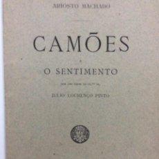 Libros antiguos: ARIOSTO MACHADO. CAMÕES E O SENTIMENTO, 1891. EN PORTUGUÉS.. Lote 276618568