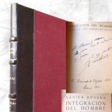 Libros antiguos: INTEGRACION DEL HOMBRE (POEMAS EN PROFUNDIDAD) 1934 XAVIER BOVEDA. DEDICATORIA AUTOR A MANUEL AZNAR. Lote 277627858