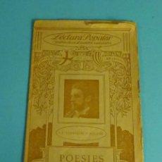 Libros antiguos: POESIES. J.F. SANMARTÍN Y AGUIRRE. LECTURA POPULAR. ILUSTRACIÓ CATALANA. Lote 278866763