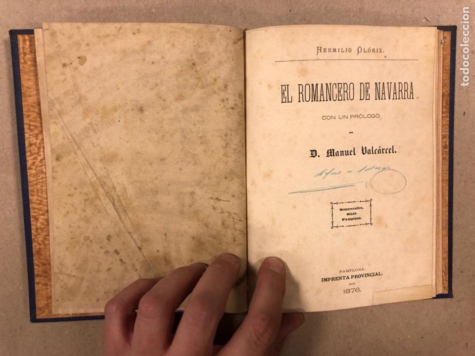 Libros antiguos: EL ROMANCERO NAVARRO. HERMINIO OLORIZ. IMPRENTA PROVINCIAL PAMPLONA (1876). - Foto 4 - 281935653