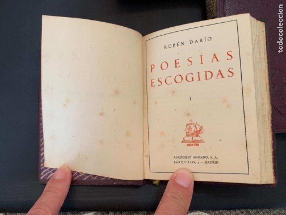 Libros antiguos: RUBEN DARIO POESIAS ESCOGIDAS DOS VOLUMENES - Foto 2 - 285762373
