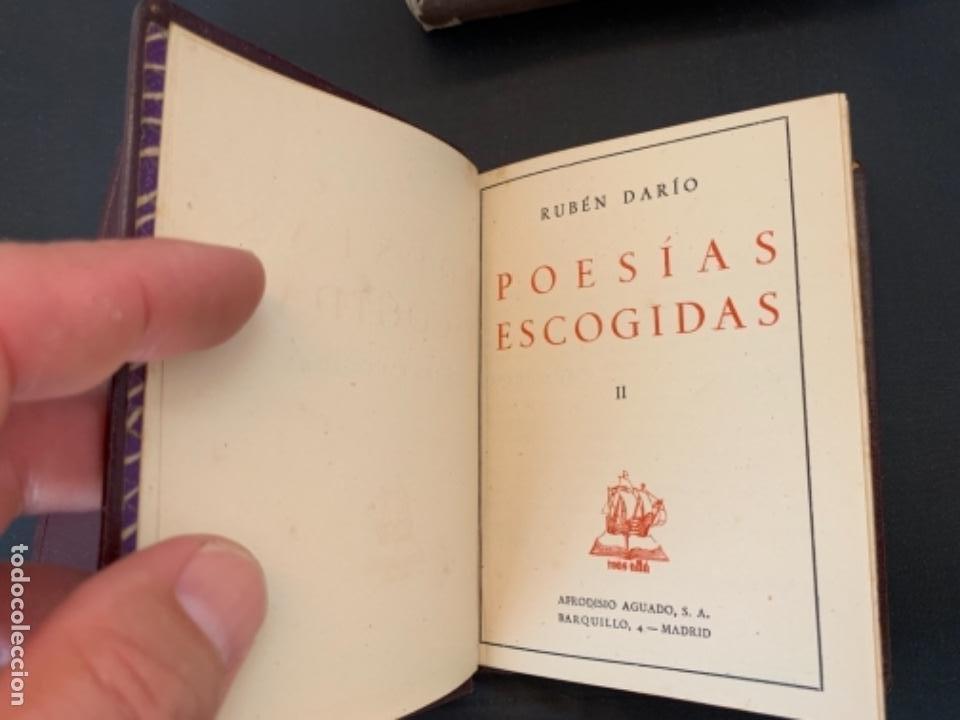 Libros antiguos: RUBEN DARIO POESIAS ESCOGIDAS DOS VOLUMENES - Foto 4 - 285762373