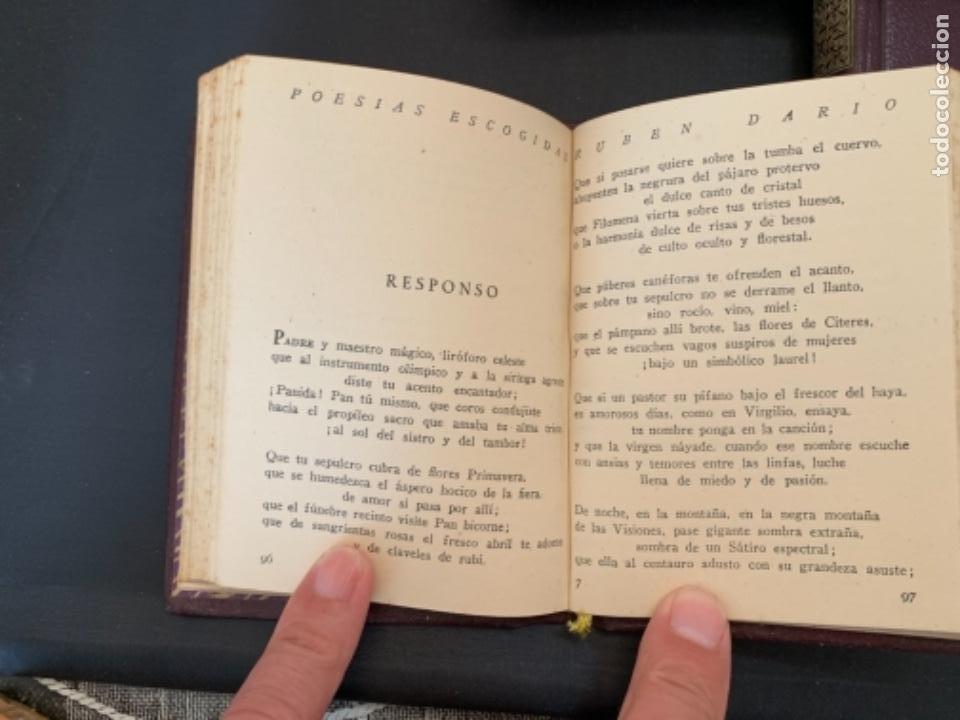 Libros antiguos: RUBEN DARIO POESIAS ESCOGIDAS DOS VOLUMENES - Foto 6 - 285762373